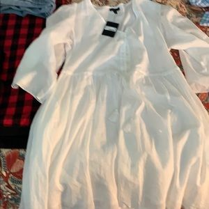 ATM White Babydoll Dress SZ Medium